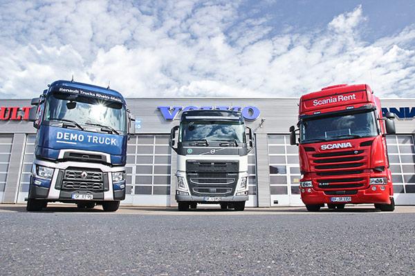 Volvo-, Renault, Scania-Truck