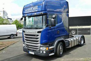 bild scania truck fahrerseite peter bender transporte