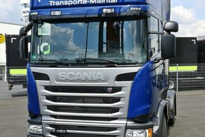 bild scania front truck peter bender transporte