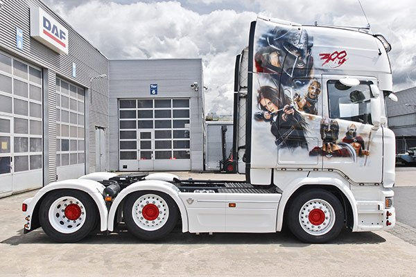 LKW mit Airbrush TiDe-Spedition