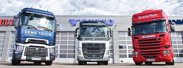 Neufahrzeuge Scania, Renault, Volvo